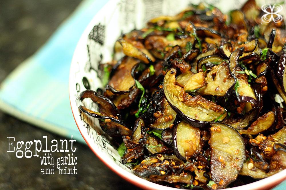 Cozinha da Matilde | Eggplant with garlic and mint - Cozinha da ...