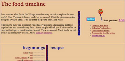 Food Timeline